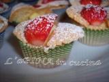 Tortini fragole e crema....come farfalle! - ricetta passo passo - L'aPINA in cucina