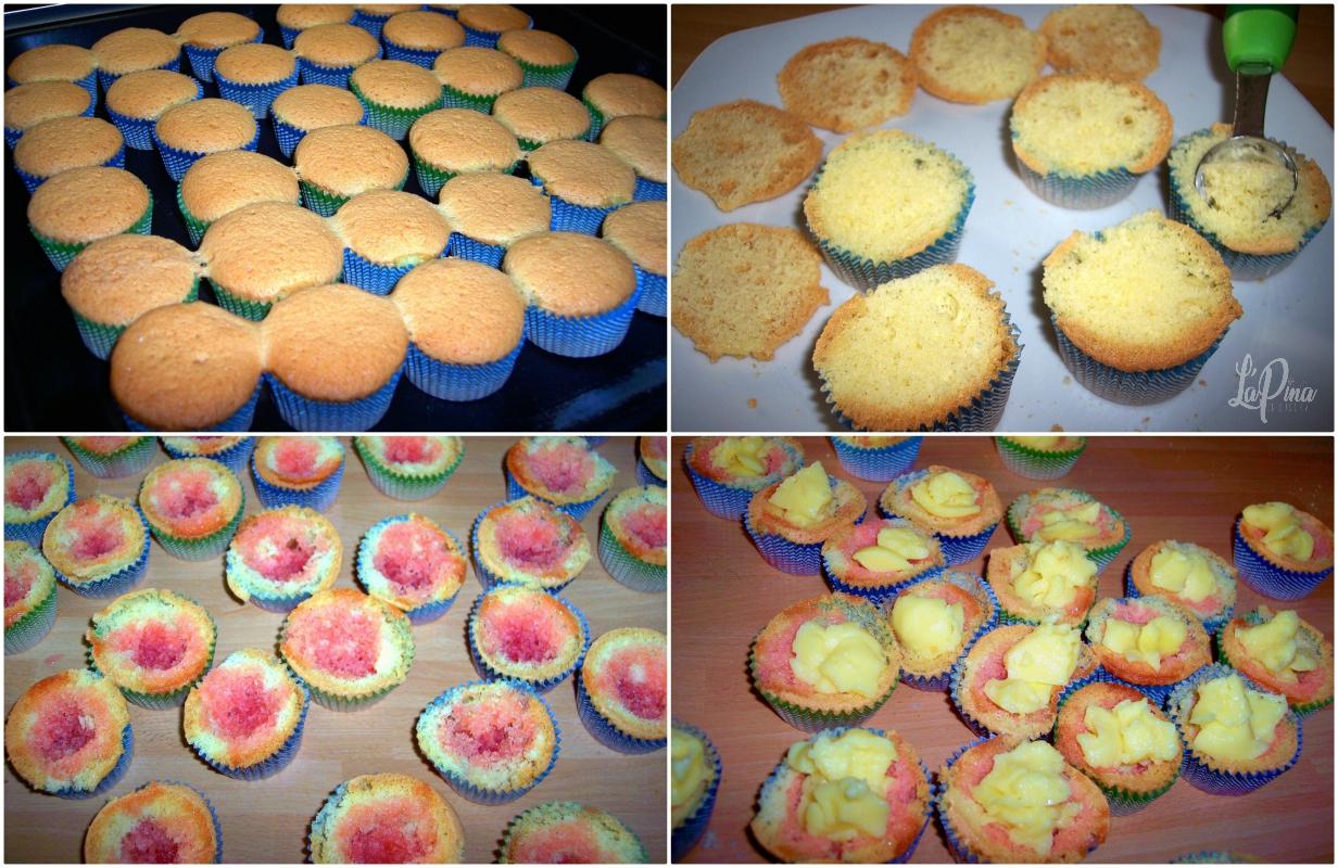 Tortine fragole e crema….come farfalle! collage