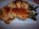 Involtini di tacchino con gli asparagi - ricetta passo passo - L'aPINA in cucina