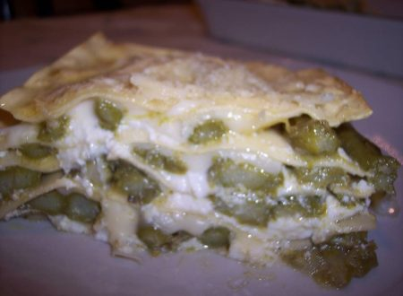 Lasagna con asparagi e ricotta