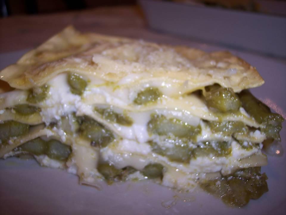 Lasagna con asparagi e ricotta...ricetta passo passo