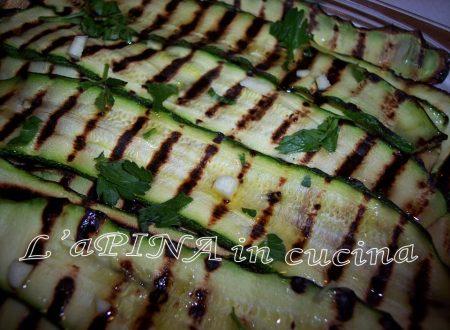 Zucchine melanzane funghi grigliati