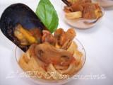 Tagliatelle integrali con cozze, funghi e pinoli 3
