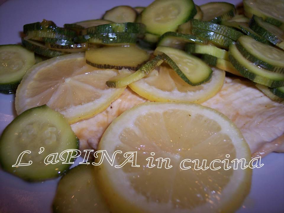 Petto di pollo al limone con la zucchine 4