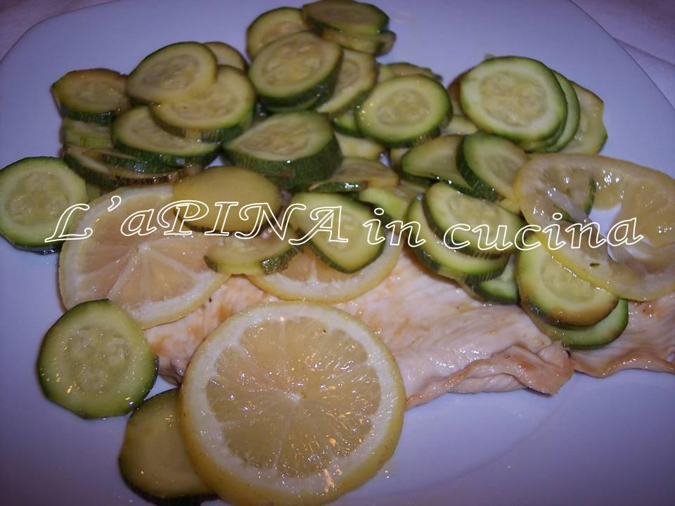 Petto di pollo al limone con la zucchine 5