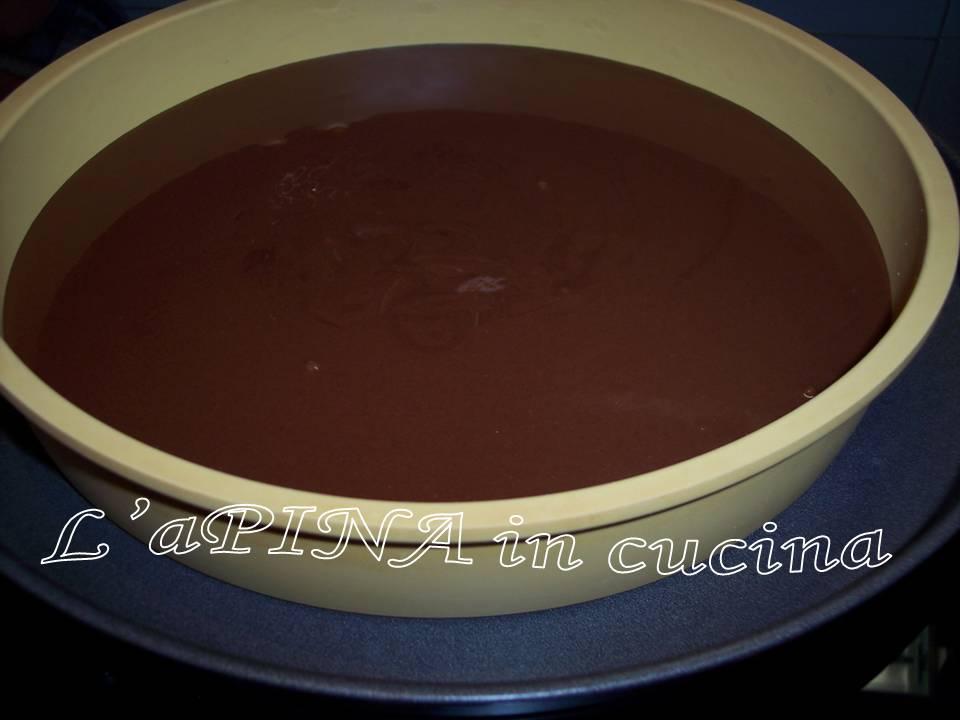 Torta moretta....torta al cacao con nutella e panna