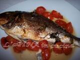 Orata all'acqua pazza - ricetta veloce,ricetta light, ricetta semplice - secondi di pesce