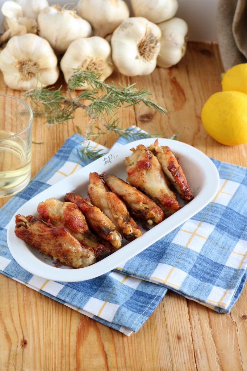 Alette di pollo al vino bianco