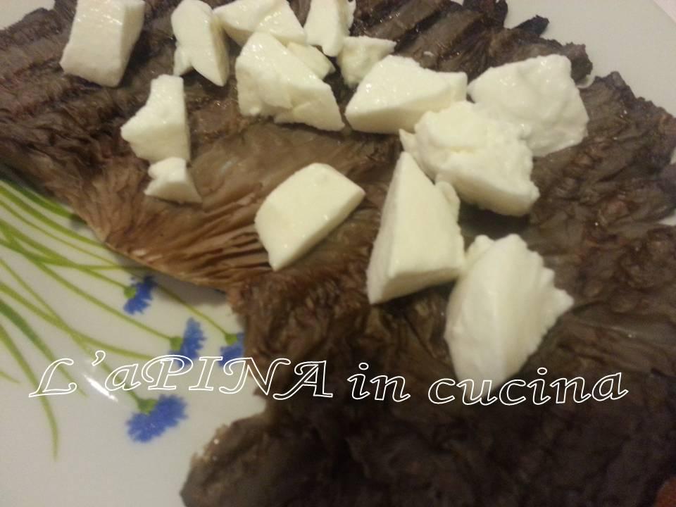Involtini di funghi con prosciutto e mozzarella...ricetta passo passo