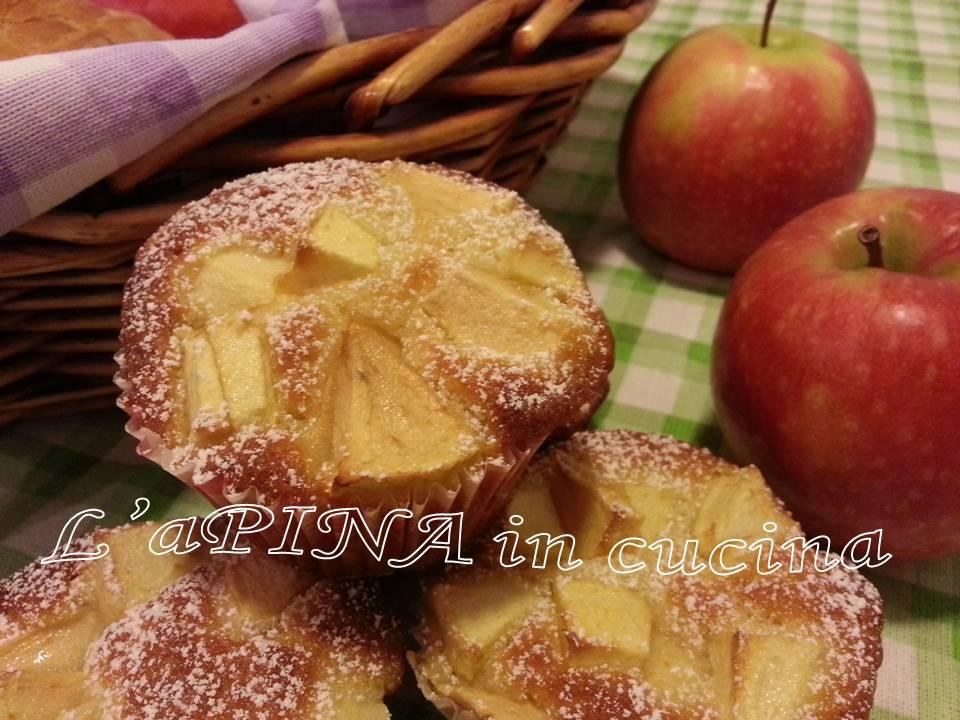 Muffin alle mele....che merenda! - L'aPINA in cucina