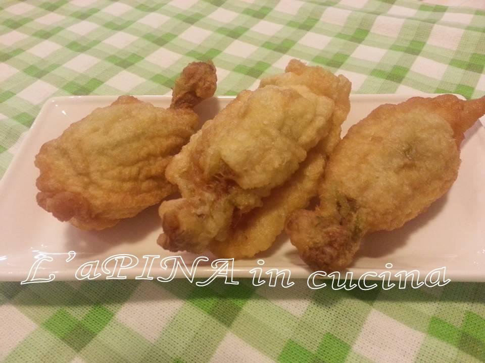 Fiori di zucca ripieni croccanti..ottimo finger food, antipasto, stuzzichino, buffet..