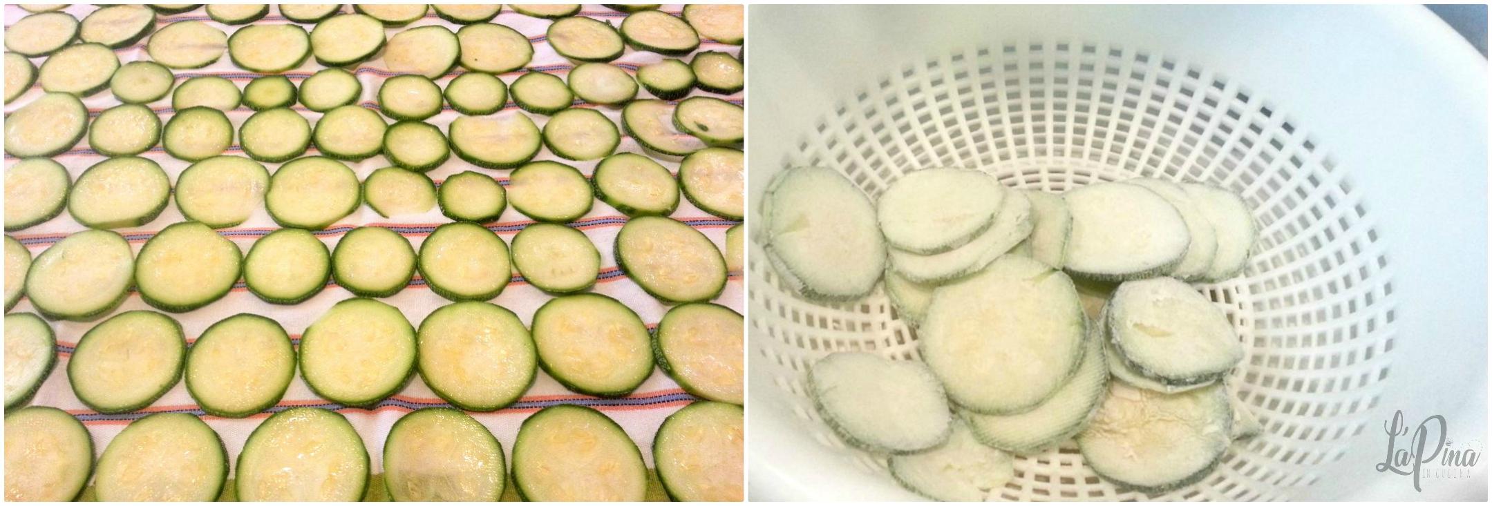 Zucchine fritte collage