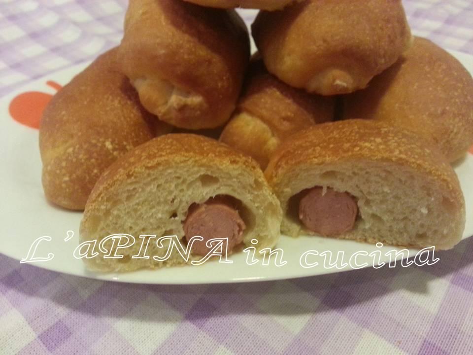 Hot dog con lievito madre
