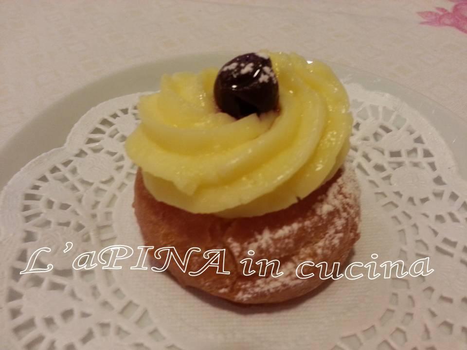 Zeppole di San Giuseppe fritte - L'aPINA in cucina