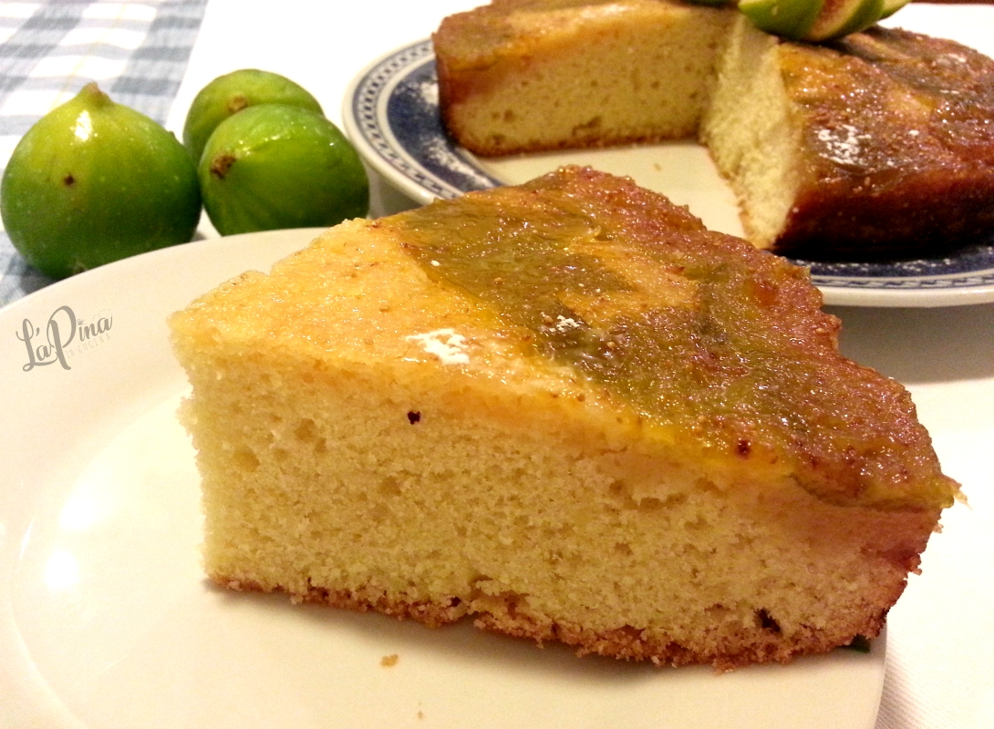 Torta rovesciata fichi e mandorle