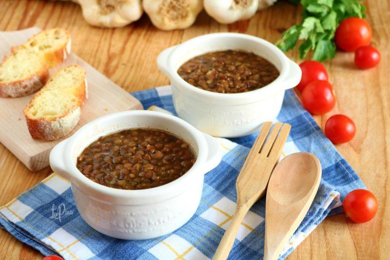 Zuppa lenticchie e pomodoro