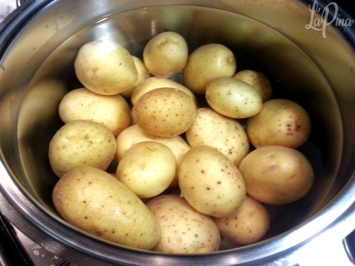 Insalata di patate con prezzemolo e aglio 3