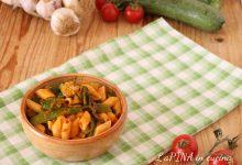 Pasta con i talli di zucchine