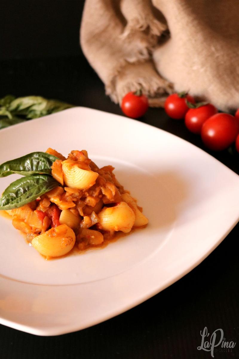 Pasta con melanzane, pomodorini e paprika dolce 6_