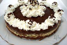 Torta fredda crema, nocciola e cioccolato