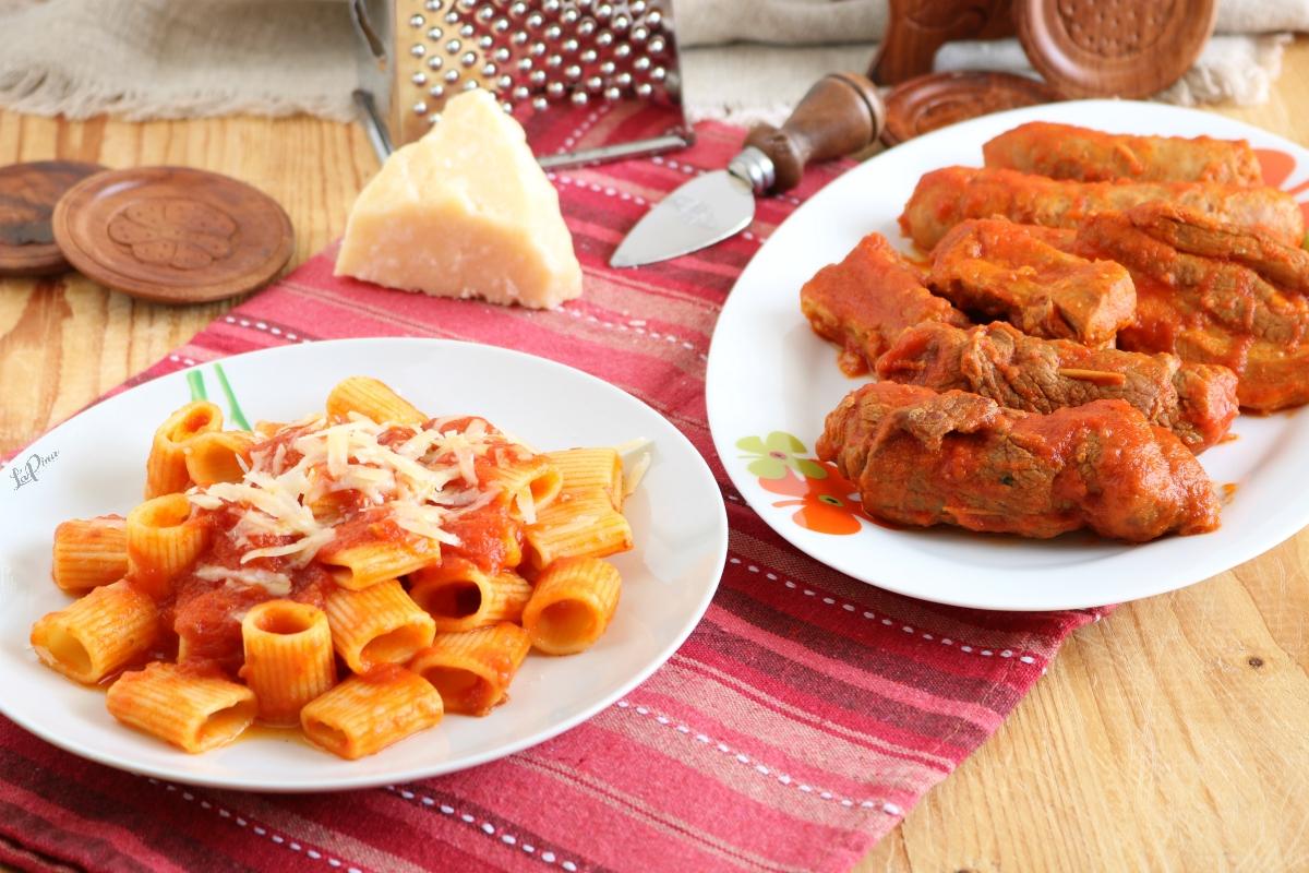 Pasta col sugo di carne - l'aPina in cucina