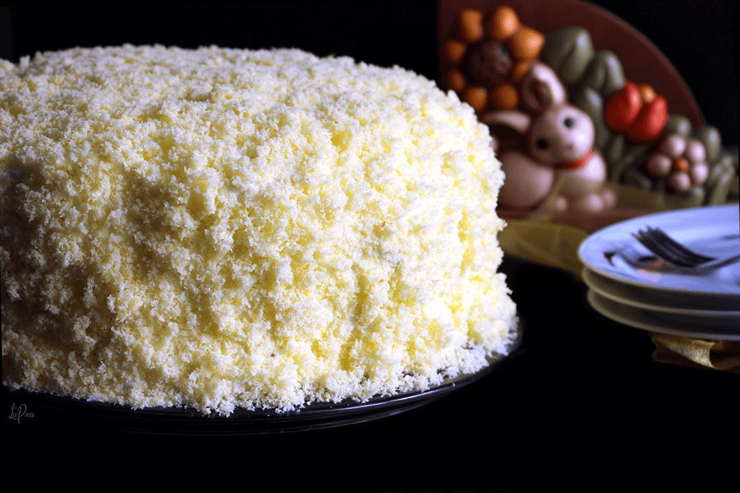 Torta mimosa all'ananas - l'aPina in cucina