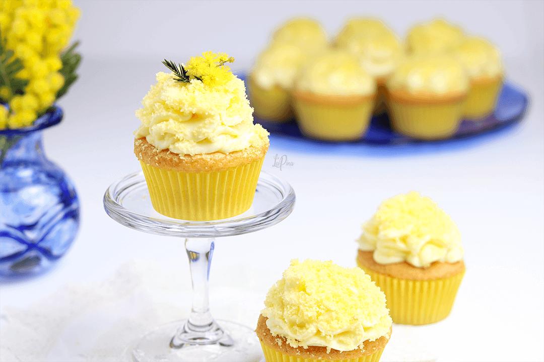 Cupcake mimosa al limone | l'aPina in cucina