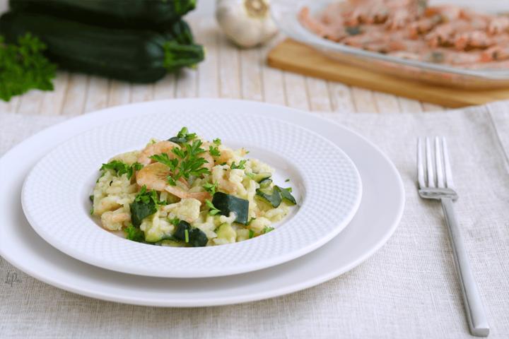 Risotto light gamberetti e zucchine | l'aPina in cucina