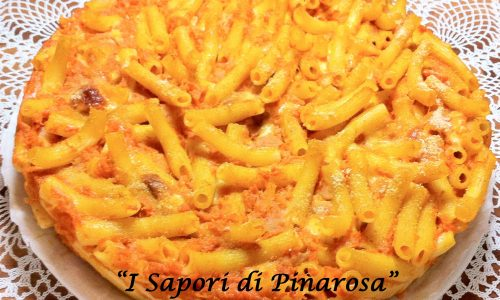 Cannerozzetti con zucca al forno.