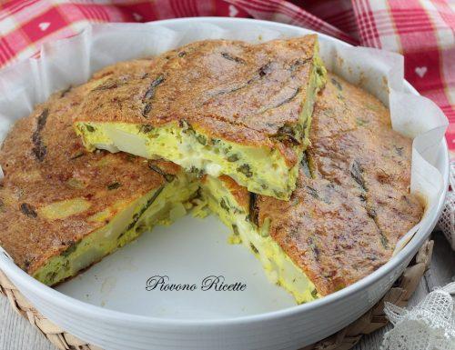 Frittata con asparagi e patate – Cotta al forno