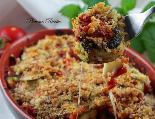 Involtini di zucchine e scamorza gratinati