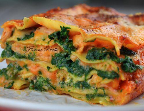 Lasagne al salmone e spinaci