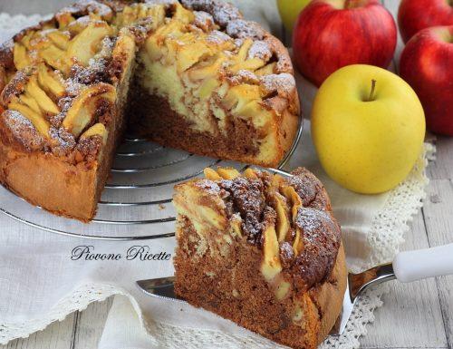 Torta di mele e nutella