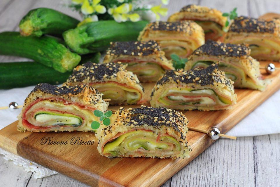 strudel con zucchine