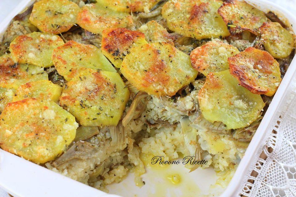 riso patate e carciofi