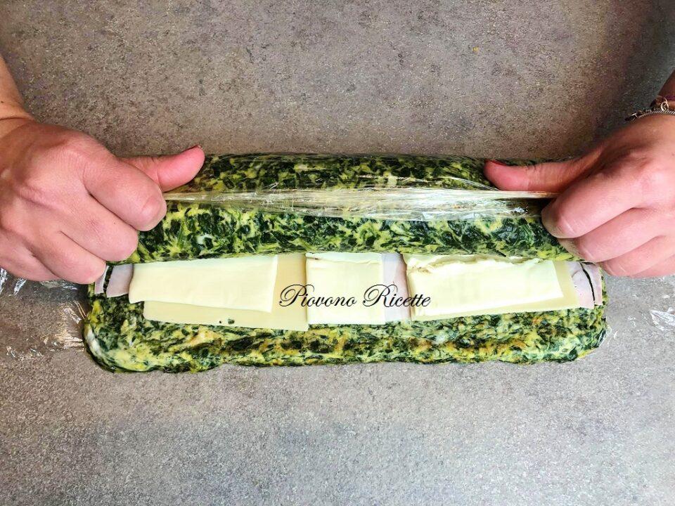 rotolo di frittata agli spinaci