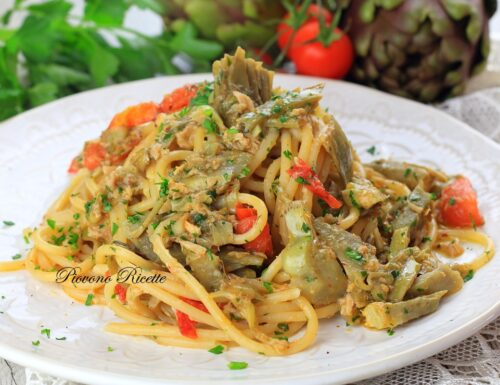 Spaghetti tonno e carciofi