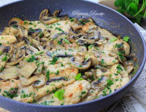 Pollo ai funghi – cremoso e succulento