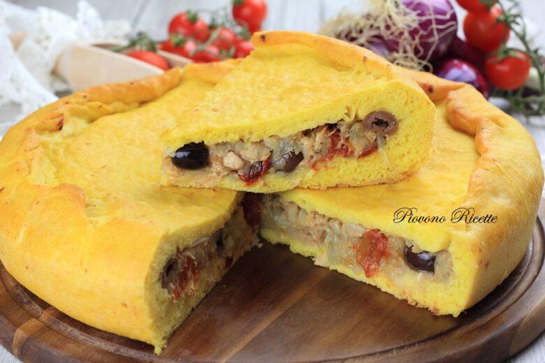 Torta salata con tonno e cipolle