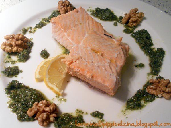 Salmone con salsa verde