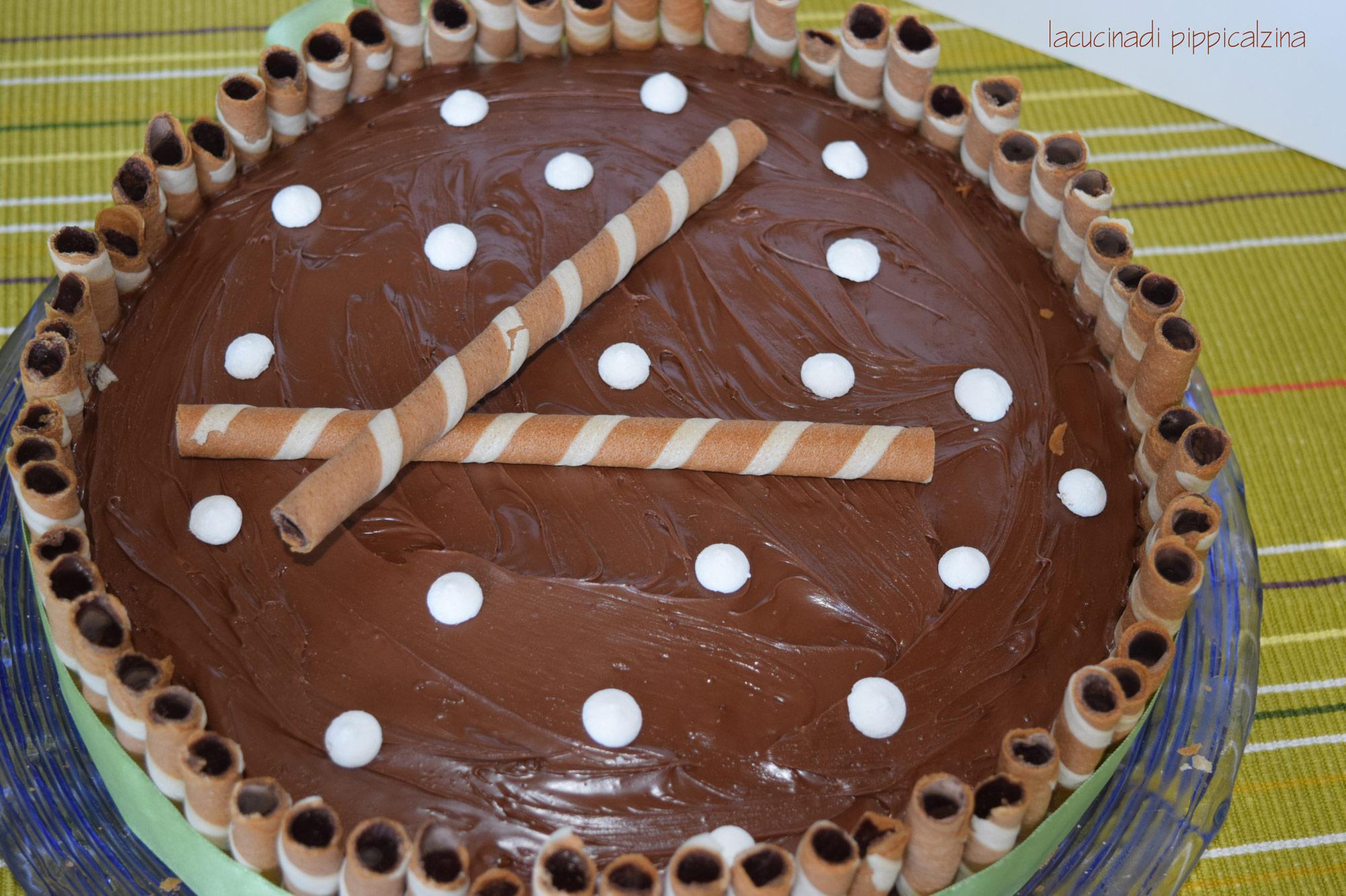 Torta nutella e crema di caffe