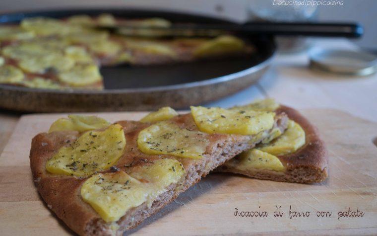 Focaccia di farro con patate