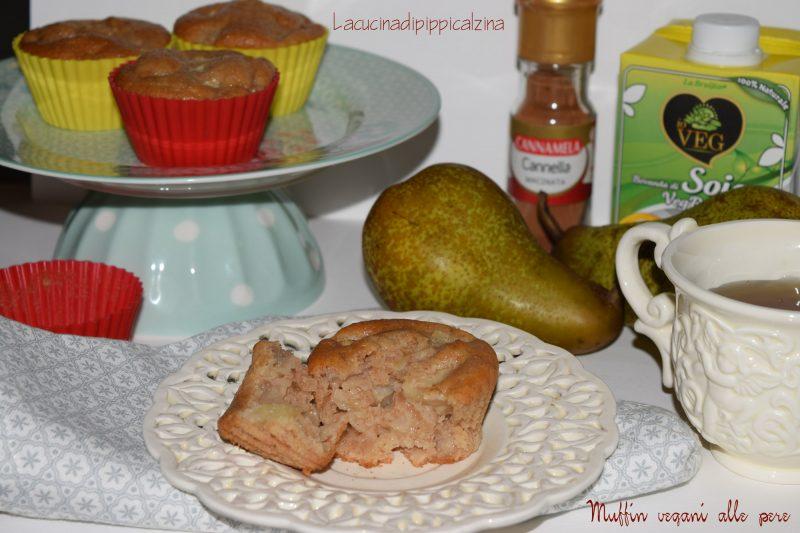 Muffin vegani di pere e cannella