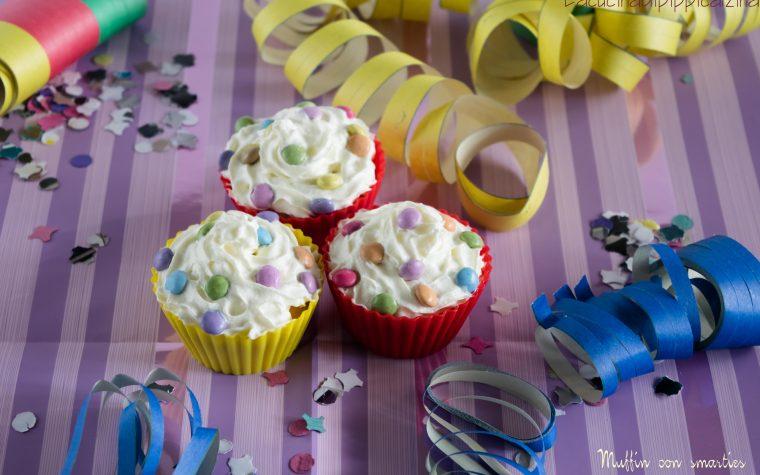 Muffin con smarties di Carnevale