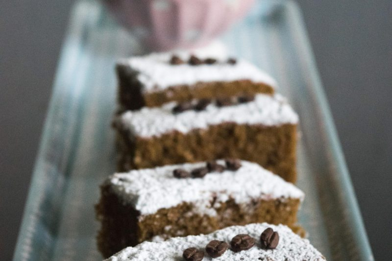 Brownie al caffè e vaniglia