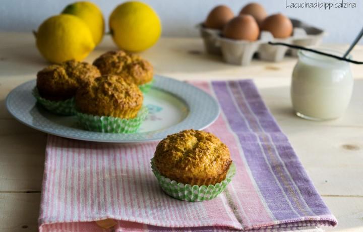 Muffin alla crusca d avena yogurt e limone
