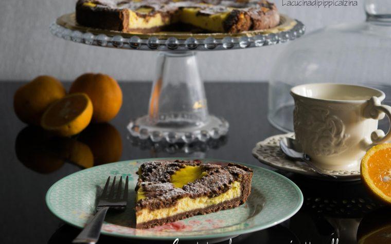 Crostata al cacao con cremoso alle arance