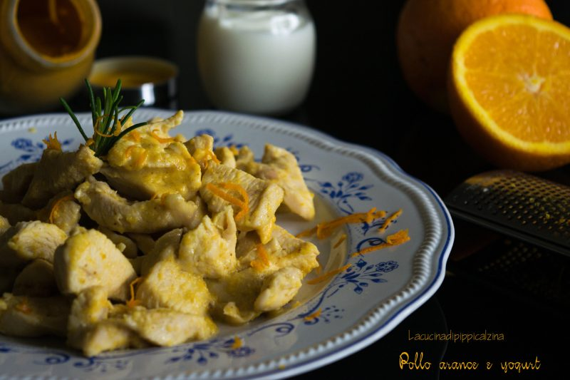 Pollo arance e yogurt