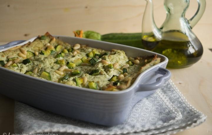 Lasagna sprint pesto,zucchine e pinoli