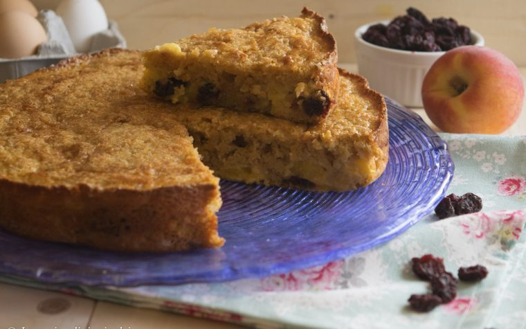 Torta rustica pesche e amarene